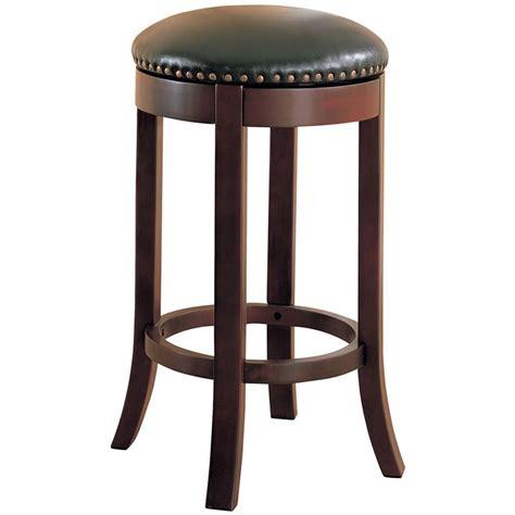coaster  swivel bar stool  brown  black