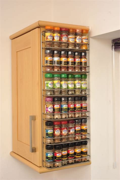 Kitchen Organisation Ideas - spice rack easy wall mount or cupboard fix