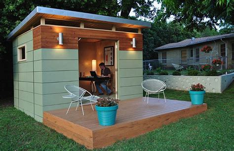Backyard Shed Office by The She Shed Trumps The Cave Any Day