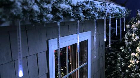 philips led cascading icicle light set 12 count doovi