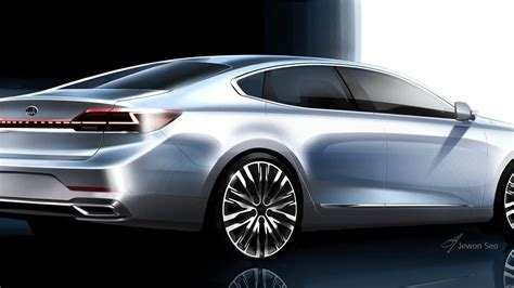 kia previews updated  cadenza  teaser sketches