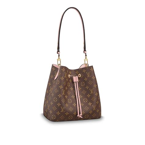 luxury monogram canvas  leather handbag neonoe louis