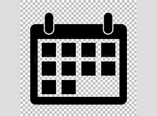Calendar sign Flat style icon on transparent background