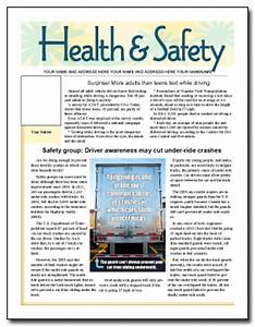 Good news newsletter layouts including health safety for Health and wellness newsletter template