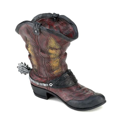 cowboy boot spurred planter decor country aah