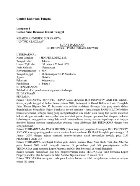 contoh contoh surat dakwaan docx