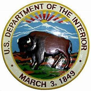 Department of the Interior Seal Plaque | State ...