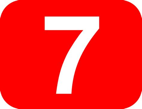 Number 7 Red Background Clip Art At Clker.com