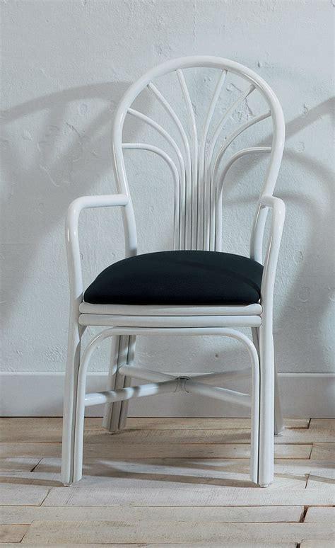 chaise blanche salle a manger chaise avec accoudoirs en rotin brin d 39 ouest
