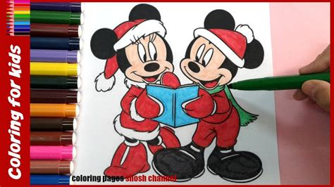 mickey mouse  minnie mouse christmas coloring pages