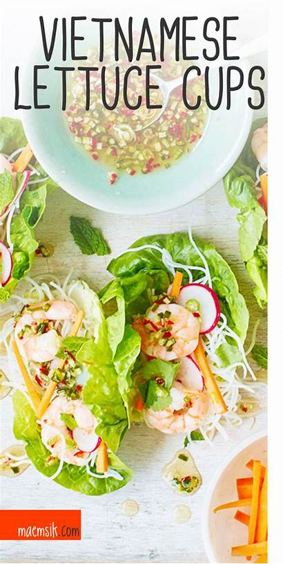 Lettuce Cups Vietnamese Recipe Wrap Recipes Maemsik