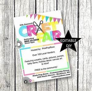 Christmas Flyer Template Word Craft Fair Flyer Invitation Diy Editable Customizable