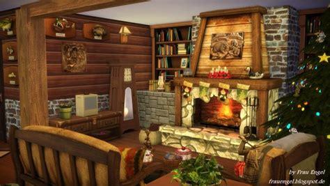 frau engel christmas log cabin sims  downloads