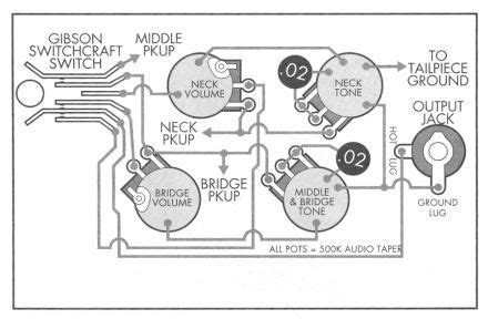 Le Paul 3 Up Guitar Wiring Diagram by Gibson Les Paul Custom Standard 3 Schematic Big