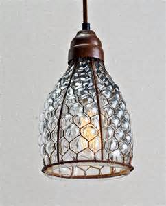 chicken wire glass pendant home decor