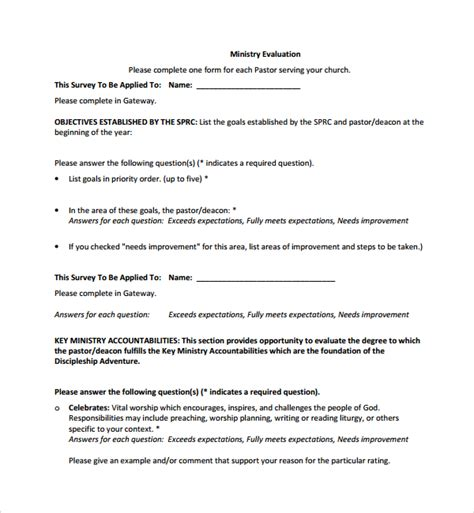 Leadership Evaluation Form Templates by 10 Leadership Evaluation Forms Sle Templates