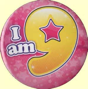 9th birthday badge pink party wizard