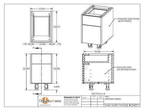 kitchen cabinet section mini base cabinet desavino sons 2747