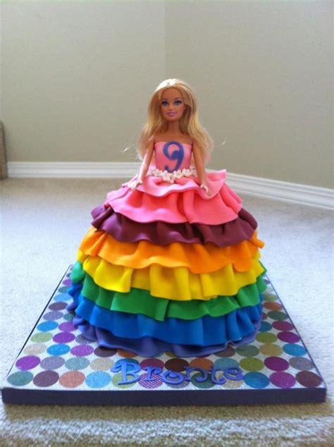 rainbow barbie cake cakecentralcom