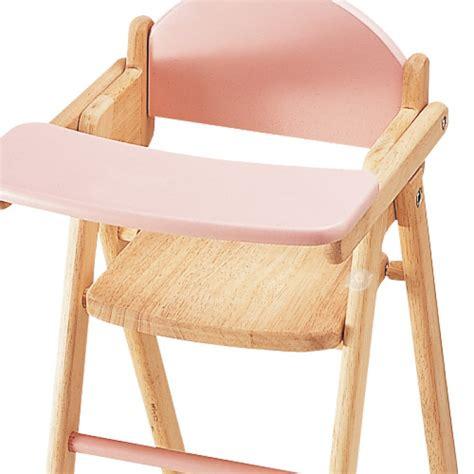 chaise haute pour poupée jouets des bois chaise haute en bois pour poupée pintoy