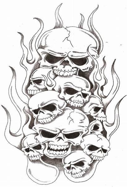 Tattoo Skulls Skull Flames Stencils Thelob Stencil