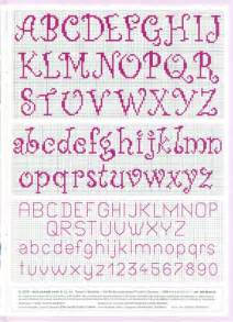 Easy Cross Stitch Alphabet