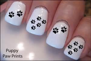 Paw print nail decal dog design art