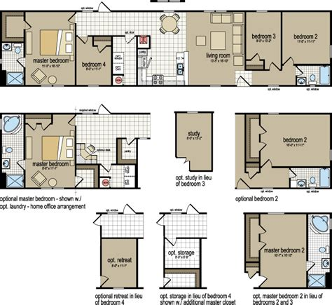 2 bedroom 1 bath house plans 2 bedroom 1 bath single wide mobile home floor plans