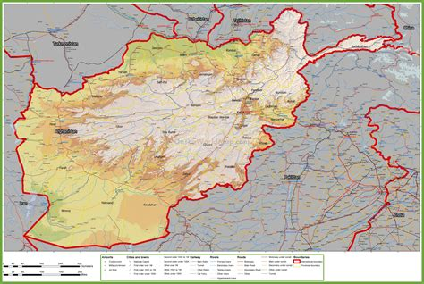 afghanistan city maps  travel information