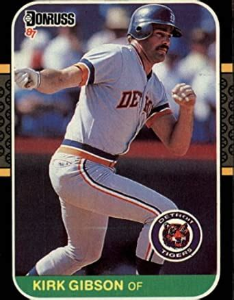 Buy and sell trading cards in both fixed & auction selling formats. Amazon.com: 1987 Donruss Baseball Card #50 Kirk Gibson Mint: Collectibles & Fine Art