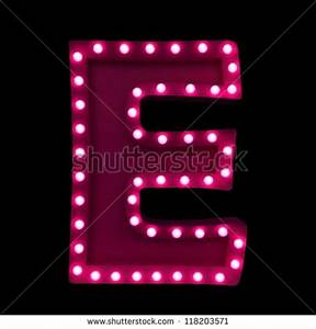 Illuminated Letters Stock Royalty Free
