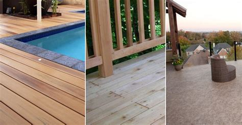 Decking Material Comparison Chart