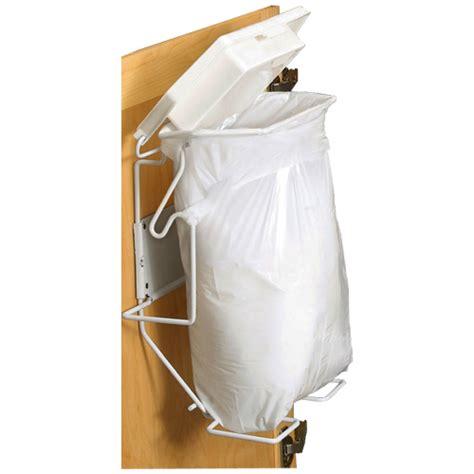 inside cabinet trash can rack sack bathroom trash can system in cabinet trash cans