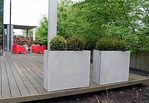 Exklusive pflanzkubel im trend moderner innenarchitektur for Feuerstelle garten mit pflanzkübel außen beton