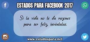 Frases y estados para Facebook ¡LO MEJOR DE 2017!