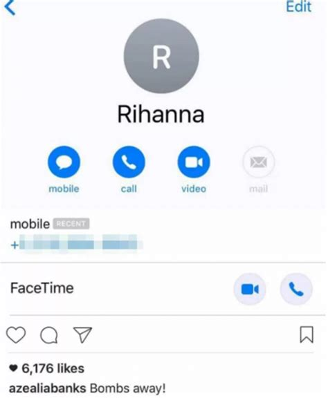 s phone number rihanna and azaelia banks seem to leak each other s phone