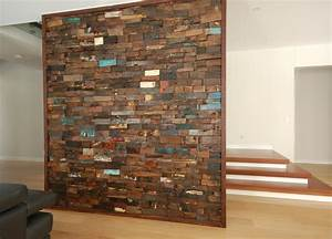 Recycled Timber Feature Wall - Family Room - brisbane - by