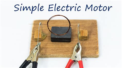 school science projects simple electric motor