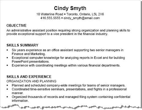 Functional Resume Opening Paragraph by Free Resume Exles With Resume Tips Squawkfox