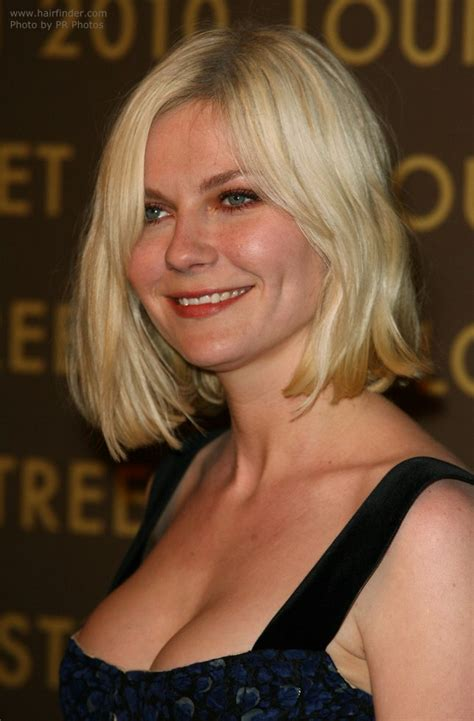 kirsten dunst wearing  hair   bob  waves