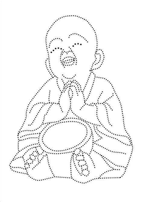 Boeddha   tin - Borduren, Borduren op kaarten en