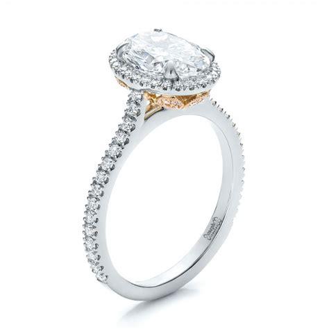 Custom Twotone Diamond Halo Engagement Ring #100572. Lady Italian Rings. Tejal Wedding Rings. Jan Birthstone Rings. Ornate Engagement Rings. 10 Grand Wedding Engagement Rings. Carrie Elizabeth Engagement Rings. Fake Engagement Rings. Witch King Rings