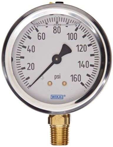 wika pressure ranges wika 9767070 industrial pressure liquid refillable copper alloy wetted parts 2 1 2 quot 0