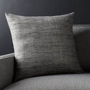 20quot Grey Square Pillow Crate And Barrel