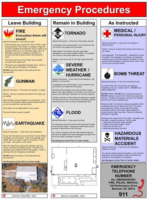 tornado emergency plan template emergency action plan safety emergency action plans