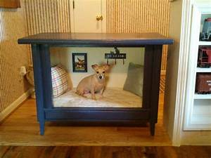 old tv cabinet much better than a darn dog crate With better buy dog crates