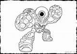 Coloring Pages Skylanders Eye Printable Miniforce Spy Eyed Animal Brawl Hoot Loop Ignitor London Eyeball Fizz Pop Getcolorings Skylander Giants sketch template