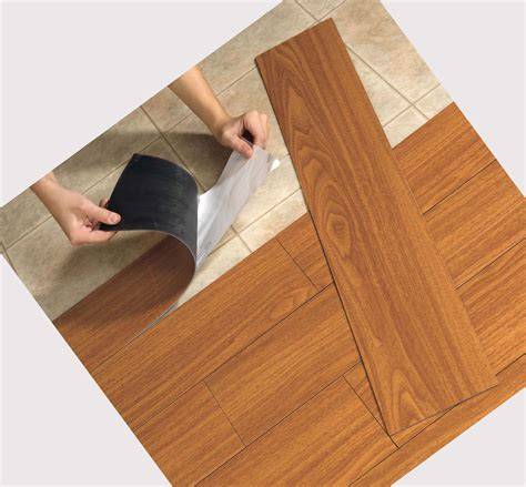 peel and stick vinyl tile installing faux wood vinyl flooring that looks like wood