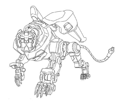 voltron legendary black lion coloring sheet  kids