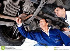 Mechanics Fixing A Car Royalty Free Stock Image Image